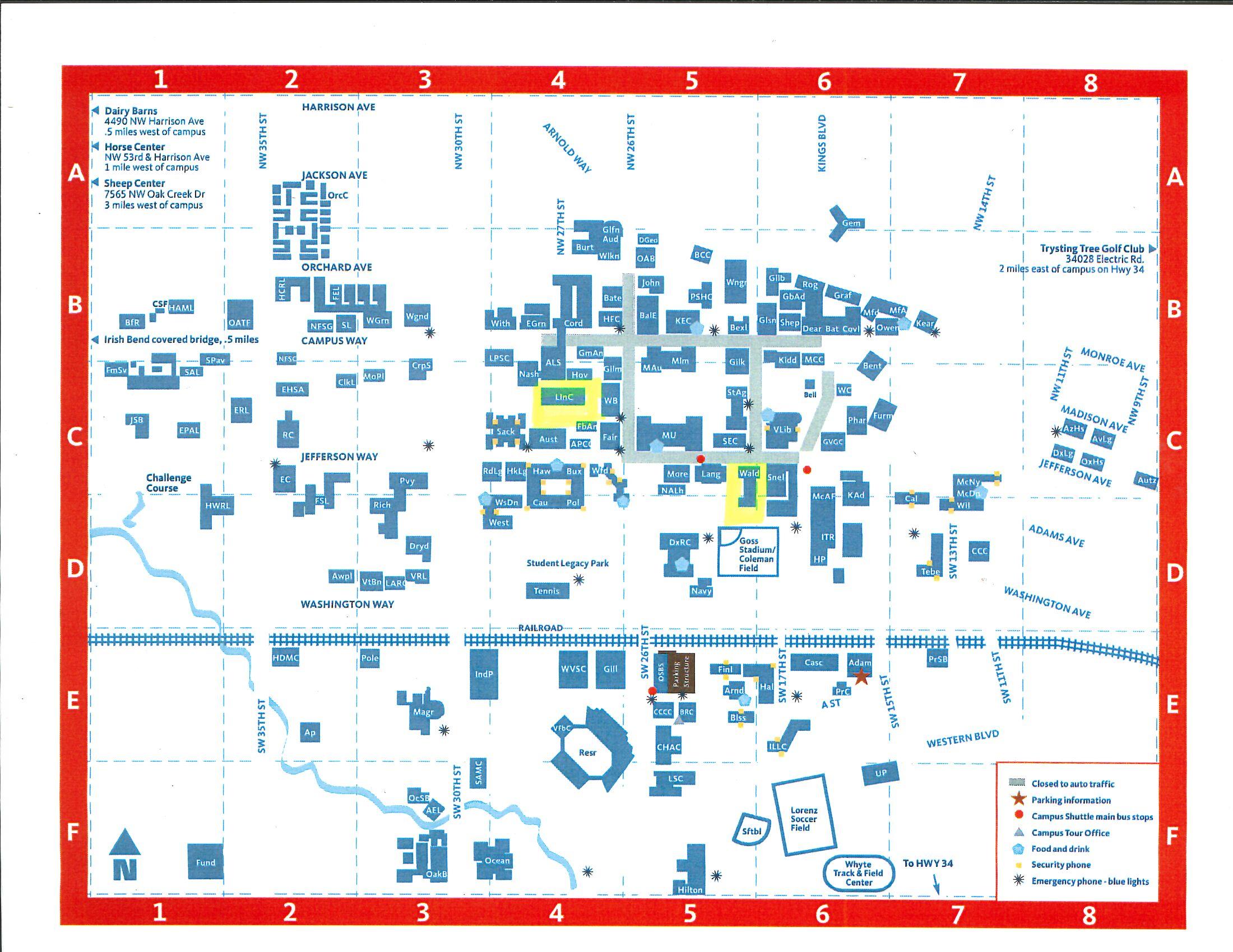 OSU campus map