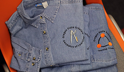 denim shirts with community patches on them