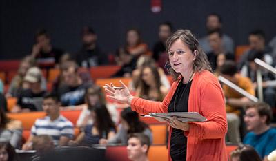 Professor lecturing